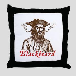 Red Blackbeard Throw Pillow