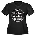 Ron Paul cure-3 Women's Plus Size V-Neck Dark T-Sh