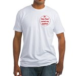 Ron Paul cure-3 Fitted T-Shirt