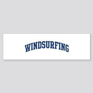 Windsurfing (blue curve) Bumper Sticker