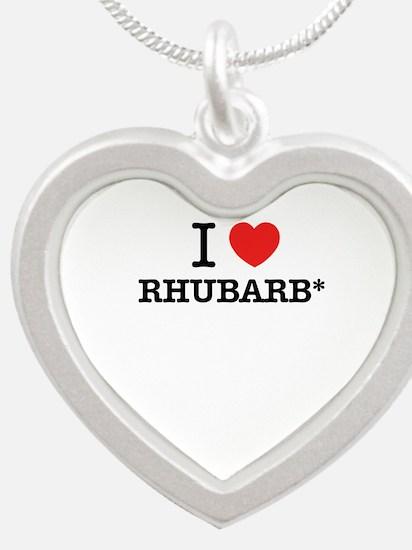 I Love RHUBARB Necklaces