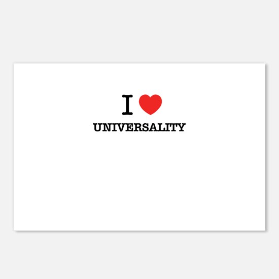 I Love UNIVERSALITY Postcards (Package of 8)