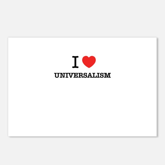 I Love UNIVERSALISM Postcards (Package of 8)