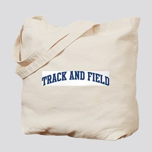Track And Field (blue curve) Tote Bag