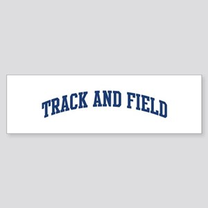 Track And Field (blue curve) Bumper Sticker