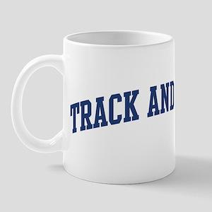 Track And Field (blue curve) Mug