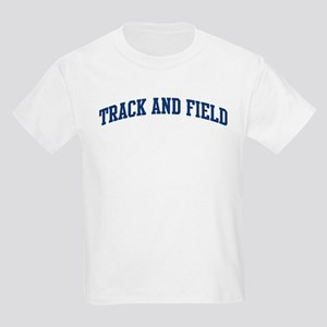 Track And Field (blue curve) Kids Light T-Shirt