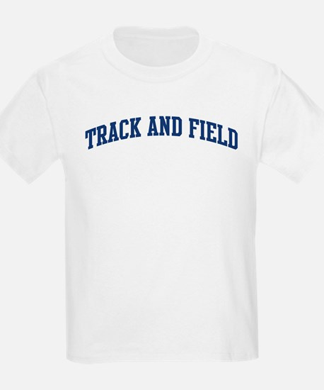 Track And Field (blue curve) T-Shirt