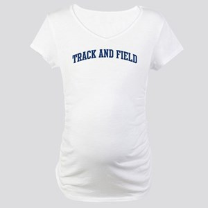 Track And Field (blue curve) Maternity T-Shirt