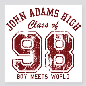 "John Adams High 98 Square Car Magnet 3"" x 3"""