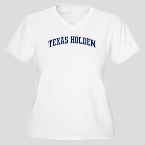 Texas Holdem (blue curve) Women's Plus Size V-Neck