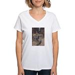 Warwick Goble's The She Bear Women's V-Neck T-Shir