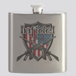 American Flag Infidel Shield Flask