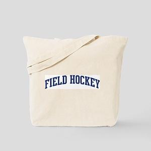 Field Hockey (blue curve) Tote Bag