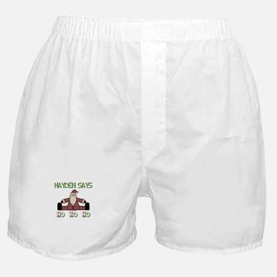 Hayden Says Ho Ho Ho Boxer Shorts