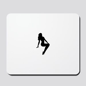 Trucker Girl V Mousepad