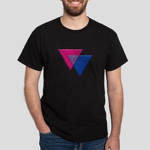 Triangles Symbol - Bisexual Pride Flag T-Shirt