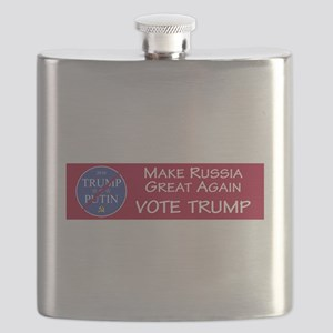 Make Russia Great Again, Vote Trump Flask