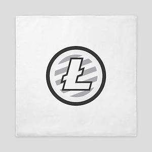 Litecoin / LTC Logo Queen Duvet
