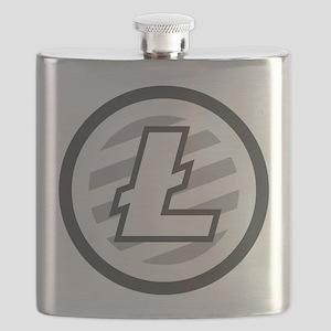 Litecoin / LTC Logo Flask