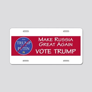 Make Russia Great Again, Vo Aluminum License Plate