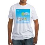 Plane and Shark Fitted T-Shirt