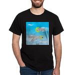 Plane and Shark Dark T-Shirt