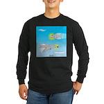 Plane and Shark Long Sleeve Dark T-Shirt