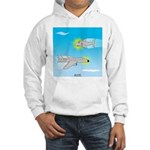 Plane and Shark Hooded Sweatshirt