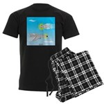 Plane and Shark Men's Dark Pajamas