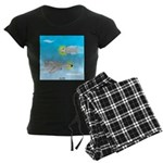 Plane and Shark Women's Dark Pajamas