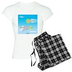 Plane and Shark Women's Light Pajamas