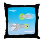 Plane and Shark Throw Pillow