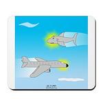 Plane and Shark Mousepad