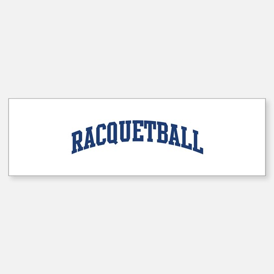 Racquetball (blue curve) Bumper Bumper Bumper Sticker