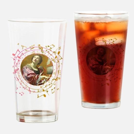 Saint Cecilia Drinking Glass