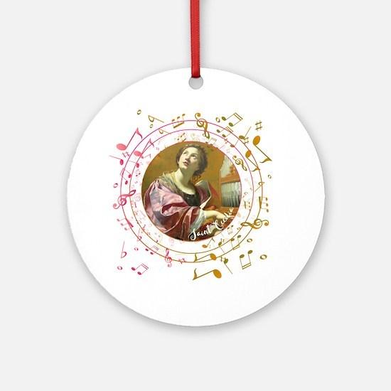 Saint Cecilia Round Ornament