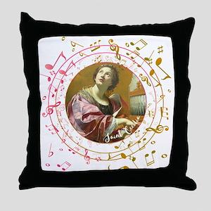 Saint Cecilia Throw Pillow