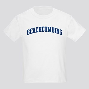 Beachcombing (blue curve) Kids Light T-Shirt