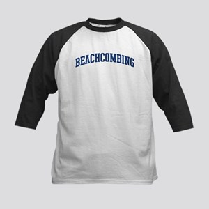 Beachcombing (blue curve) Kids Baseball Jersey