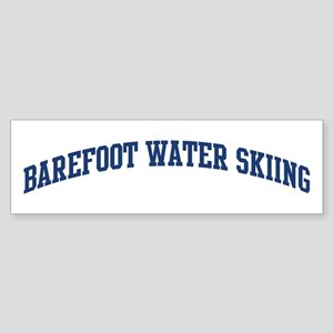 Barefoot Water Skiing (blue c Bumper Sticker