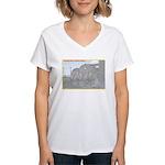 The Pennsy Lives On ! Women's V-Neck T-Shirt