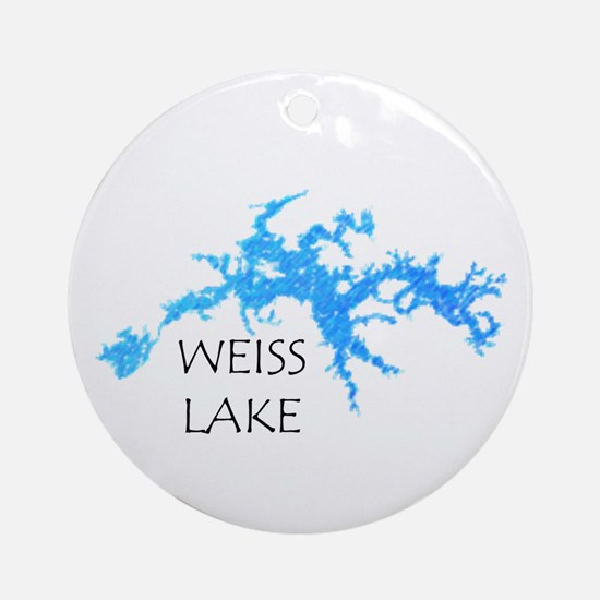 Weiss Lake Round Ornament