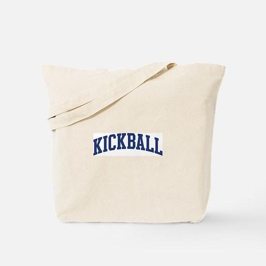 Kickball (blue curve) Tote Bag