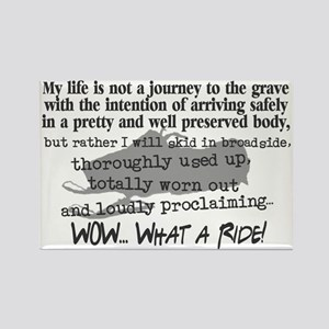 Journey to the Grave Rectangle Magnet