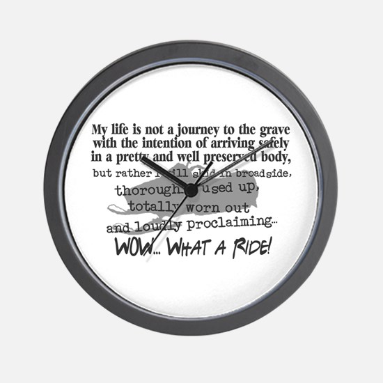 Journey to the Grave Wall Clock