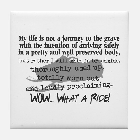 Journey to the Grave Tile Coaster