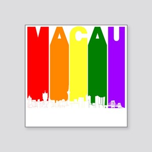 Macau China Gay Pride Rainbow Skyline Sticker