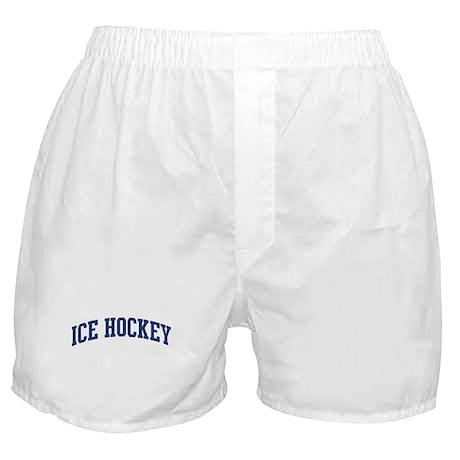 Ice Hockey (blue curve) Boxer Shorts