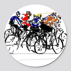 Tour de France Round Car Magnet